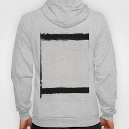 Square Strokes Black on White Hoody