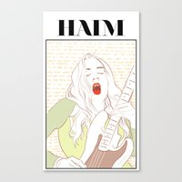 haim Canvas Prints featuring Este Haim by chazstity