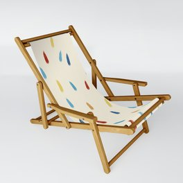 Abstract Retro Colored Rain Drops Snow Flakes - Ipotane Sling Chair