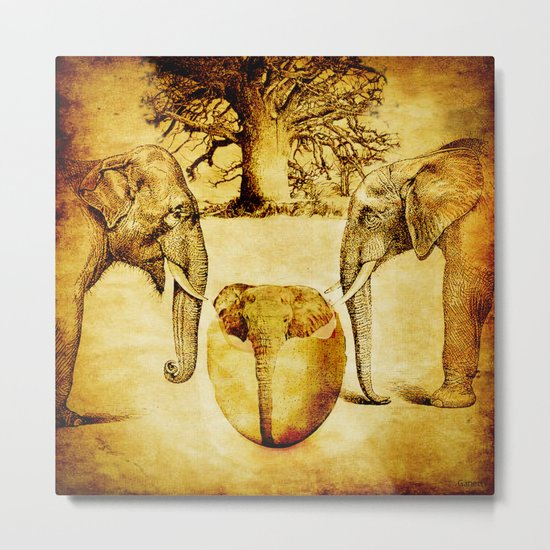 Birth of elephant Metal Print