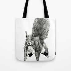 Pesky Squirrel Tote Bag