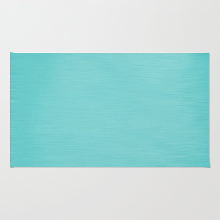Hand Painted Aqua Blue Rug