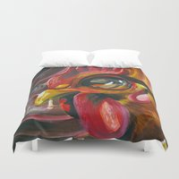 cigarette Duvet Covers featuring Last Cigarette by Brandon Heffron