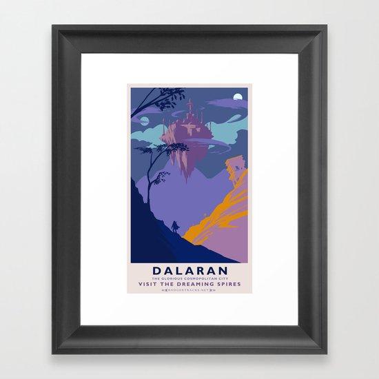 Dalaran Classic Rail Poster Framed Art Print
