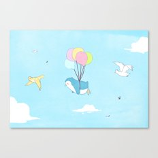 Penguins Can Fly! Canvas Print