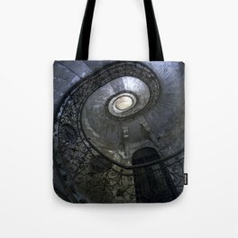 Spiral Staircase in blue and gray tones Tote Bag