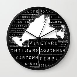 MV Life in Black and White Wall Clock