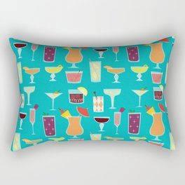 Retro Cocktails Rectangular Pillow