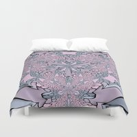 pantone Duvet Covers featuring Ornate Abstract - Pantone by Bella Mahri-PhotoArt By Tina