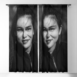 Portrait in London Blackout Curtain