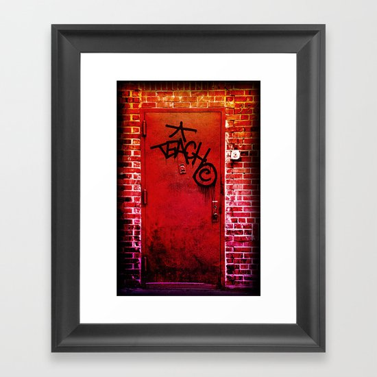 Teach NYC Framed Art Print