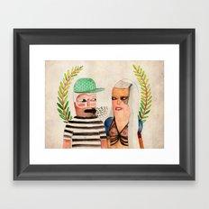 His 'N' Hers Framed Art Print