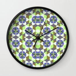 FLOWER OF LIFE GEOMETRIC PATTERN Wall Clock