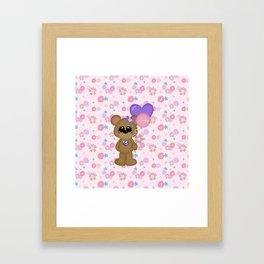 Mommy Bear Loves his Mommy Framed Art Print