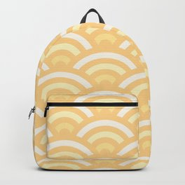 Sunny Yellow Gradient Seigaiha Backpack