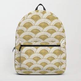 Japanese Wave Gold Glam #1 #decor #art #society6 Backpack