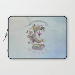 Freedom, Books, Flowers and The Moon Laptop Sleeve