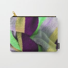 Multicolor Stripe Textile 4 Carry-All Pouch