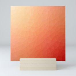 Red flakes Mini Art Print