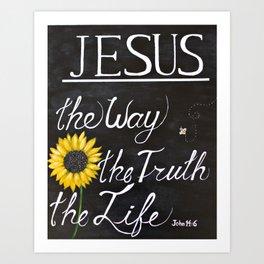 John 14:6 Art Print