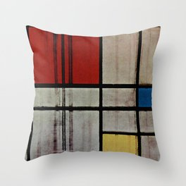 Piet Mondrian Composition with Red, Yellow and Blue Throw Pillow