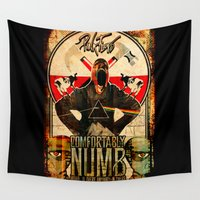 floyd Wall Tapestries featuring Pink Floyd illustration mix by aceofspades81