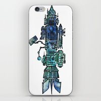 spaceship iPhone & iPod Skins featuring Spaceship  by Joseph Kennelty