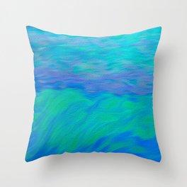Caribbean Blue Sea Art Throw Pillow