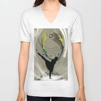 taurus V-neck T-shirts featuring Taurus by Gonzalo Golpe