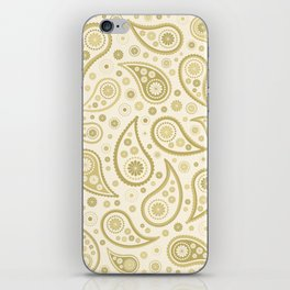 Paisley Funky Design Gold & Cream iPhone Skin