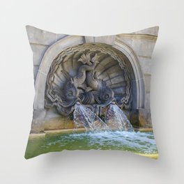 Spitting Fish Throw Pillow