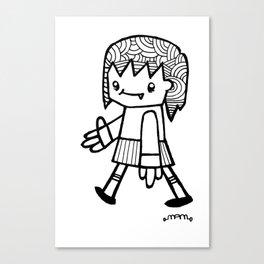 Girl Walking Canvas Print