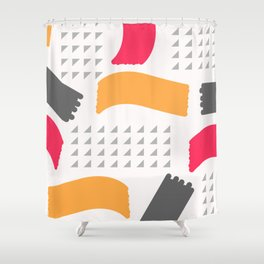 Modern triangles and happy colors Shower Curtain