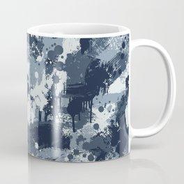 CUSTOM NAVY & BLUE SPLATTER CAMO 2 Coffee Mug