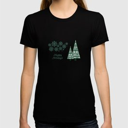 Abstract Winter Holiday - Green 47 T-shirt