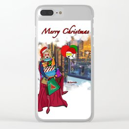 SuperXmas Clear iPhone Case