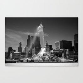 Chicago Skyline and Buckingham Fountain 2010 Canvas Print