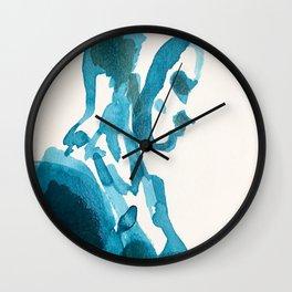 Figure in Blue Wall Clock