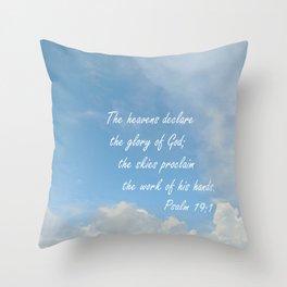 The Heavens Declare Throw Pillow