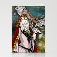 goddess Stationery Cards featuring Goddess by Astrablink7