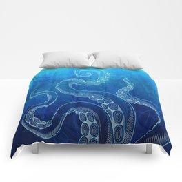 Octopus Tentacles Watercolor Comforters