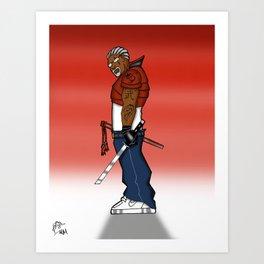 Street Samurai Series - Sh.O.G.un Art Print