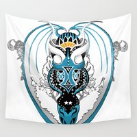 skyfall Wall Tapestries featuring Smoking Skyfall Dragon by Pr0l0gue