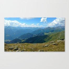 panorama on adventure park hög alps serfaus fiss ladis tyrol austria europe Canvas Print
