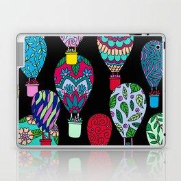 Hot Air Balloons Black Laptop & iPad Skin