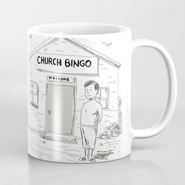 Samoan Church Preacher Protesting Cartoon Coffee Mug