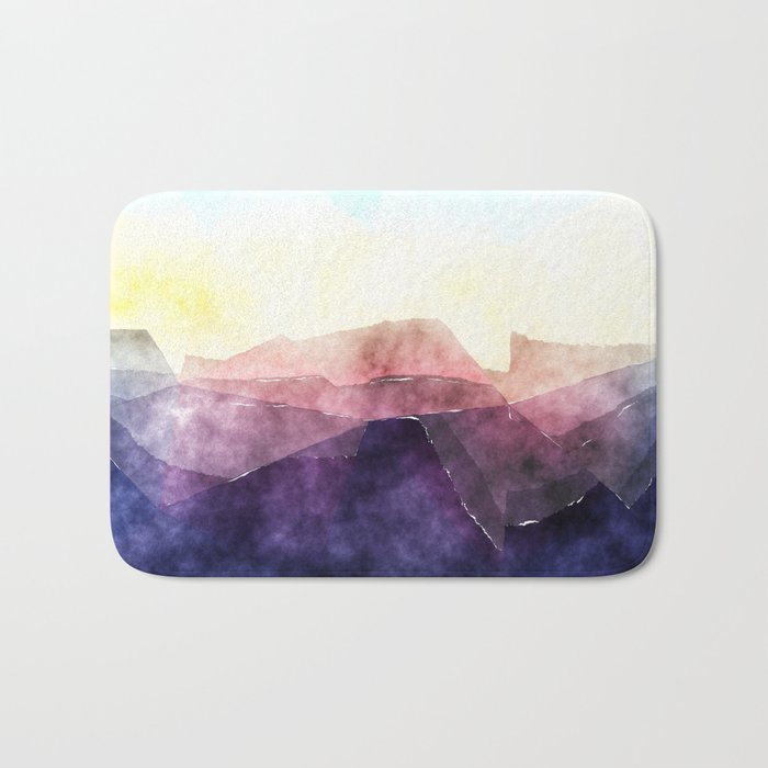 In the sea- abstract watercolor - Original triangle pattern Bath Mat