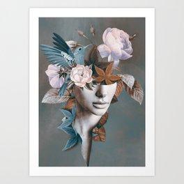 Floral Portrait 11 Art Print
