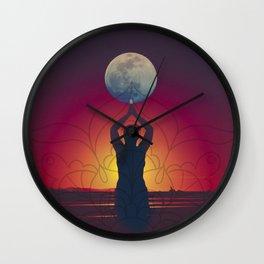 Lua cheia em peixes  Wall Clock