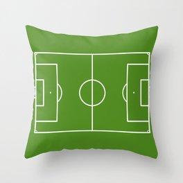 Football field fun design soccer field Throw Pillow